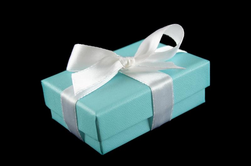 Blå present